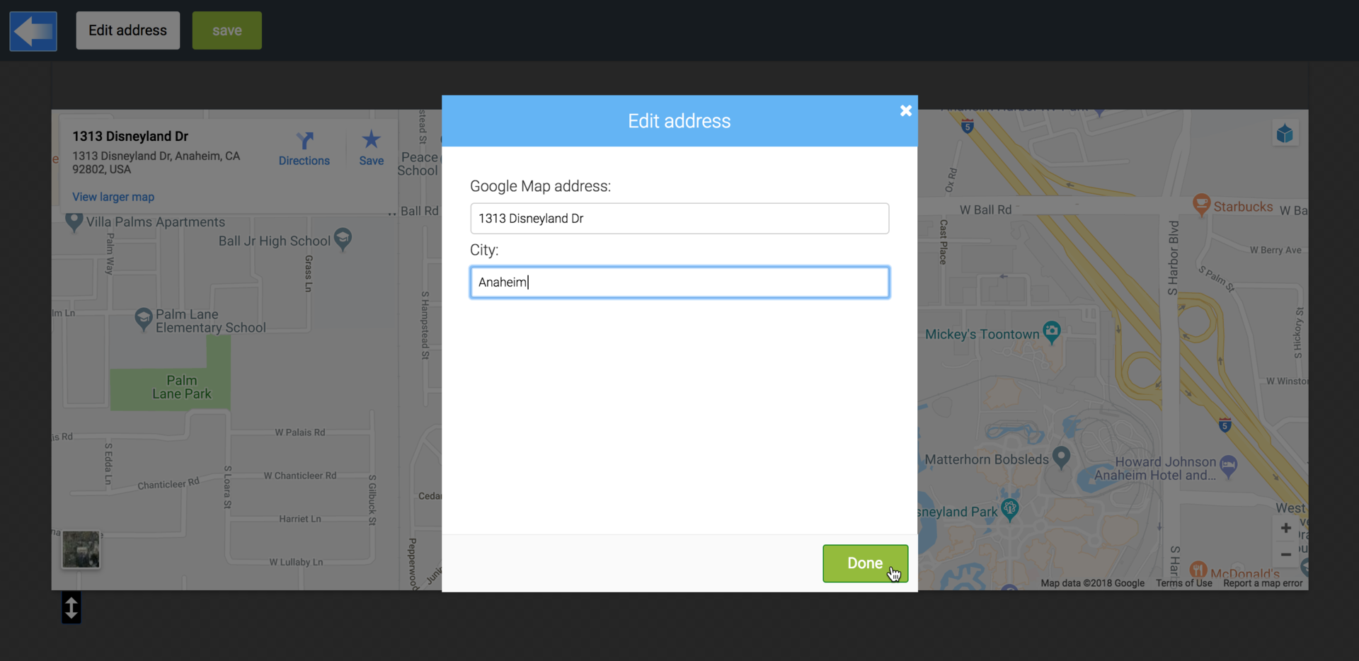 Adding Google map to your website with LiquidBlox editor on