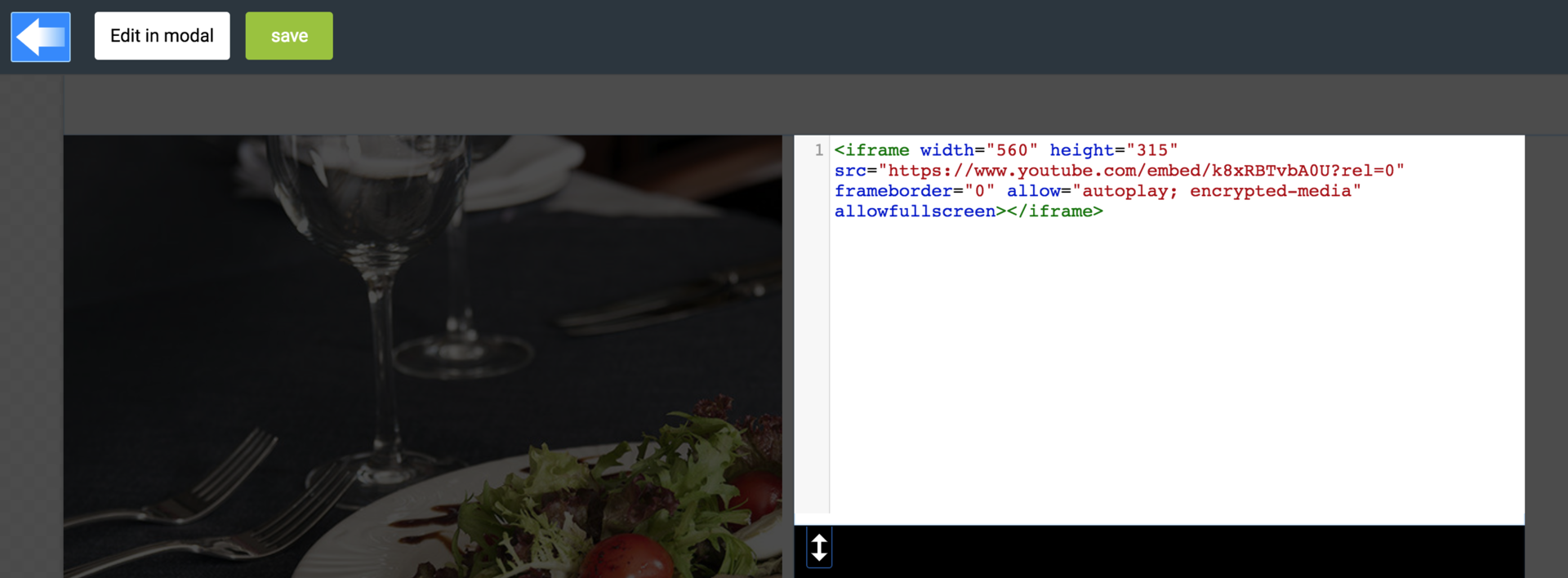 Embedding video using HTML code plugin - LiquidBlox editor