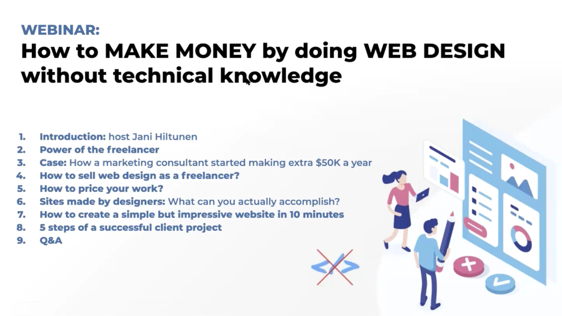 Webinar Recording How To Make Money By Doing Web Design Withoit Technical Knowledge